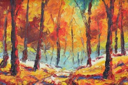Art classes start in October. Header image showing autumn colours.