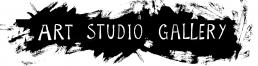 Hand lettering over studio entrance