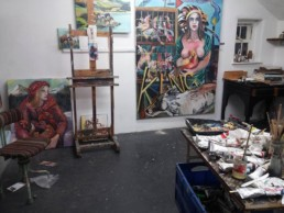 Studio with current work